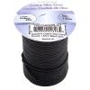Dazzle-it Cotton Wax Cord 1.5mm Round Black 25m Spool